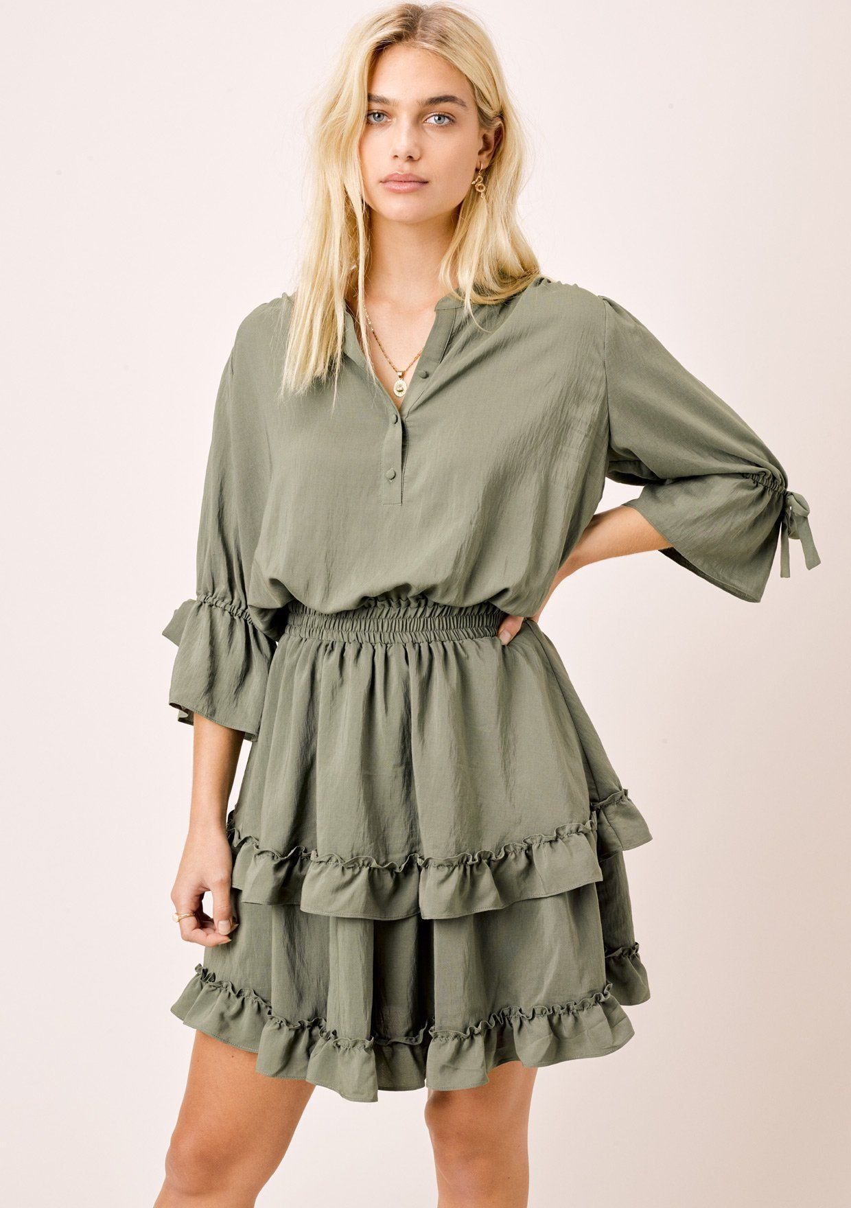 Zemia Tiered Mini Dress