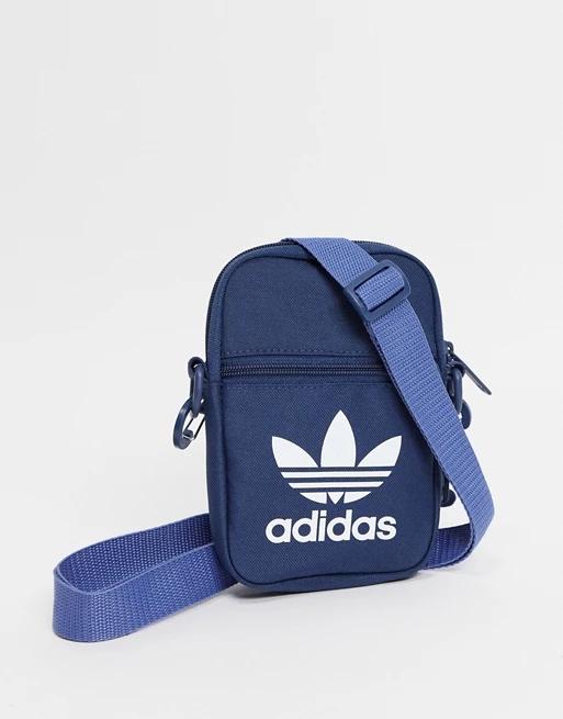 adidas Originals trefoil festival bag in navy