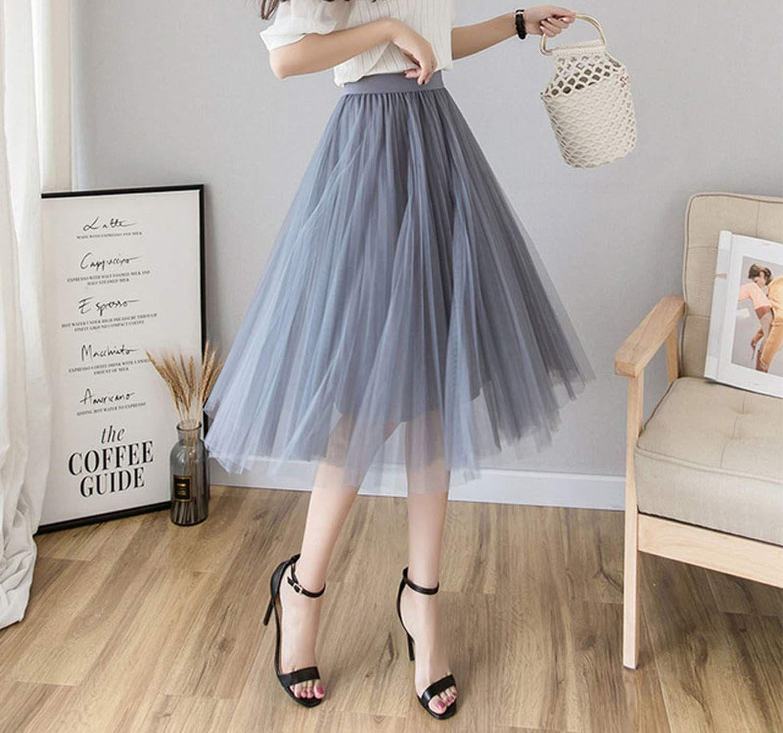 High Waisted Tulle Skirt