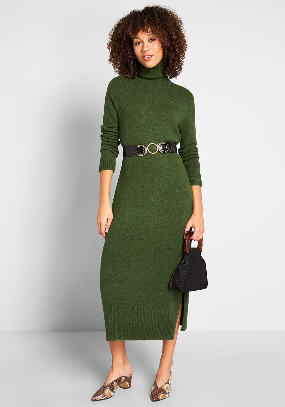 Turtleneck Maxi Dresses