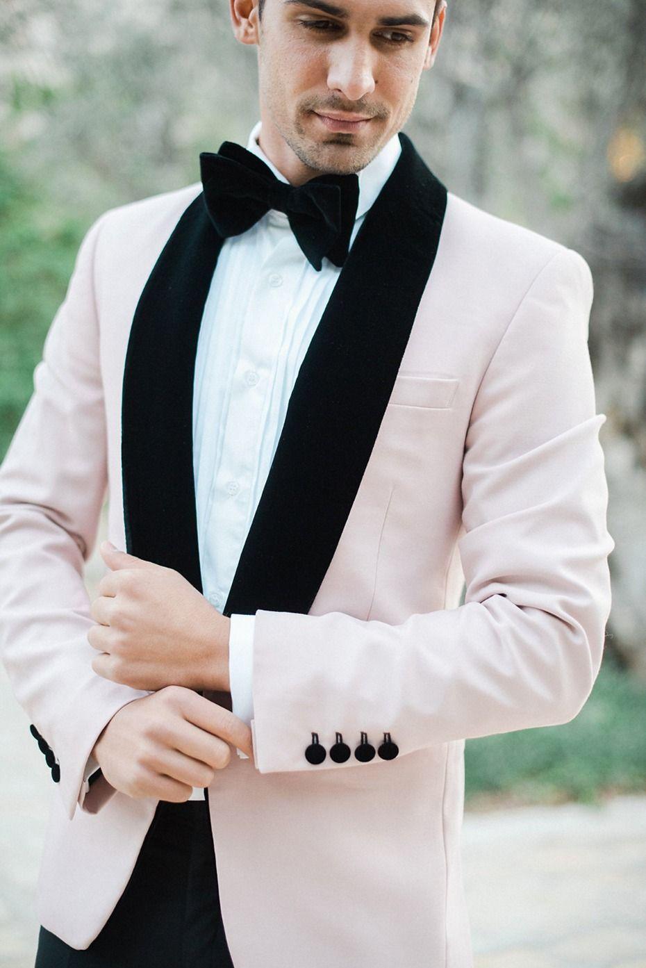 Men's tuxedo shirt suit