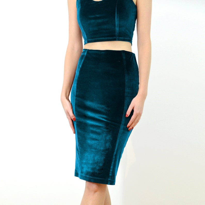 Panelled Bodycon Tube Skirt