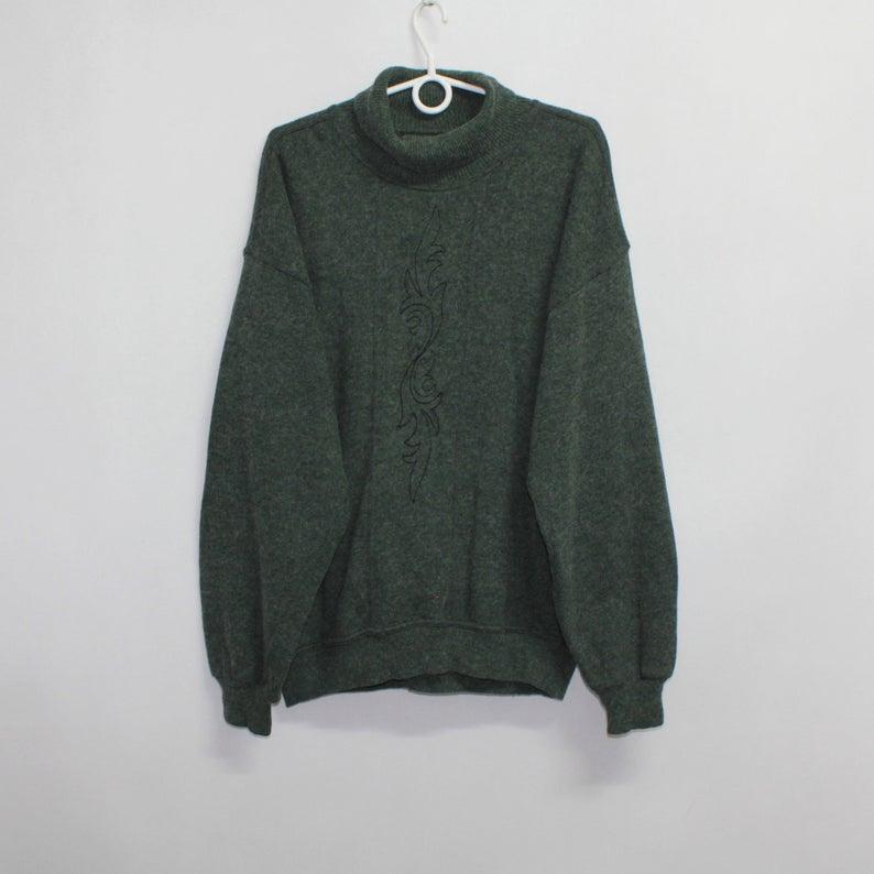 Turtleneck Oversize Wool Blend Jumper