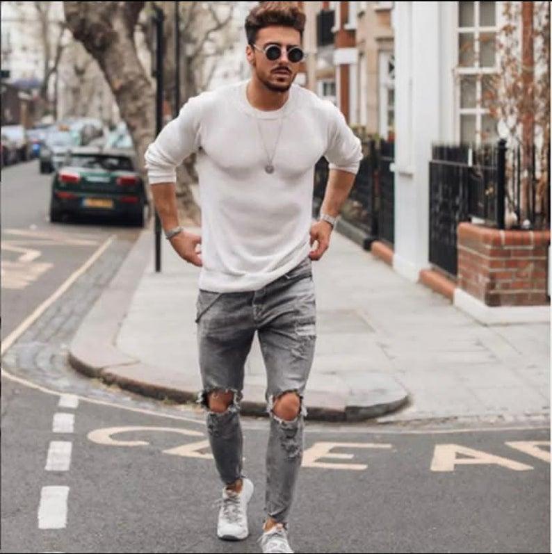men's skinny jeans, skinny jeans, ripped jeans man