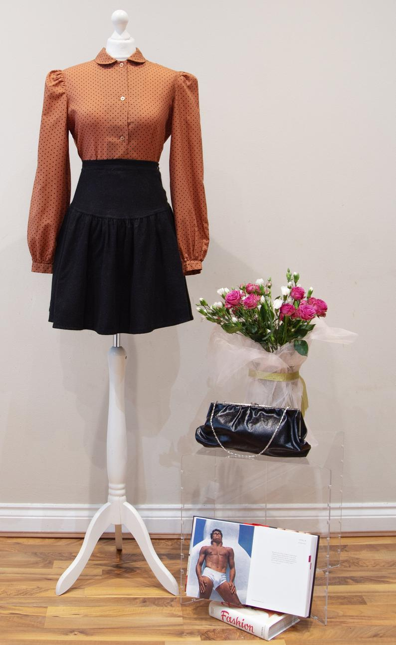 Black Skater Circle Skirt