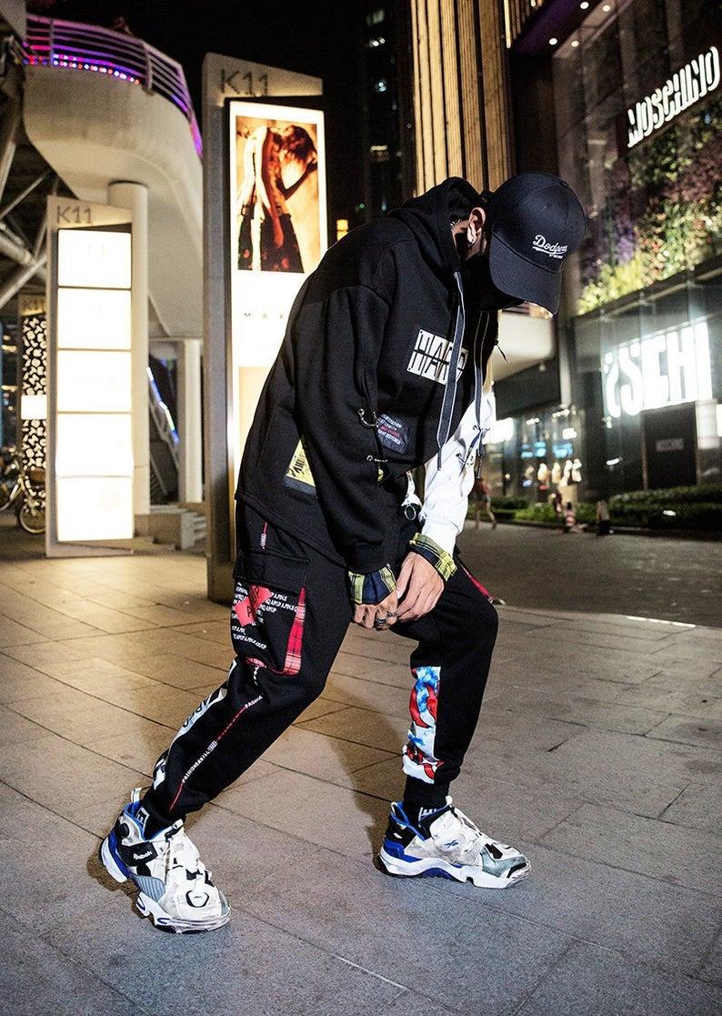 Japanese Streetwear Pants Men Harajuku Graphic Sweatpants
