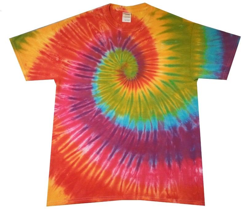 Rainbow Spiral tie dye t shirt