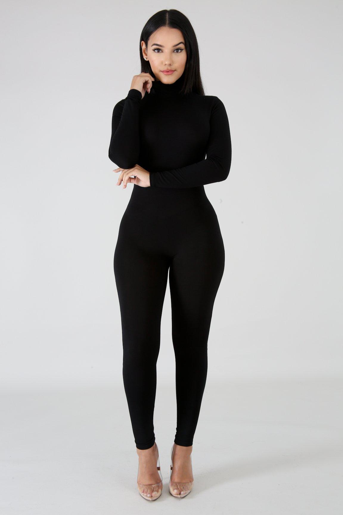 jumpsuit with turtleneck