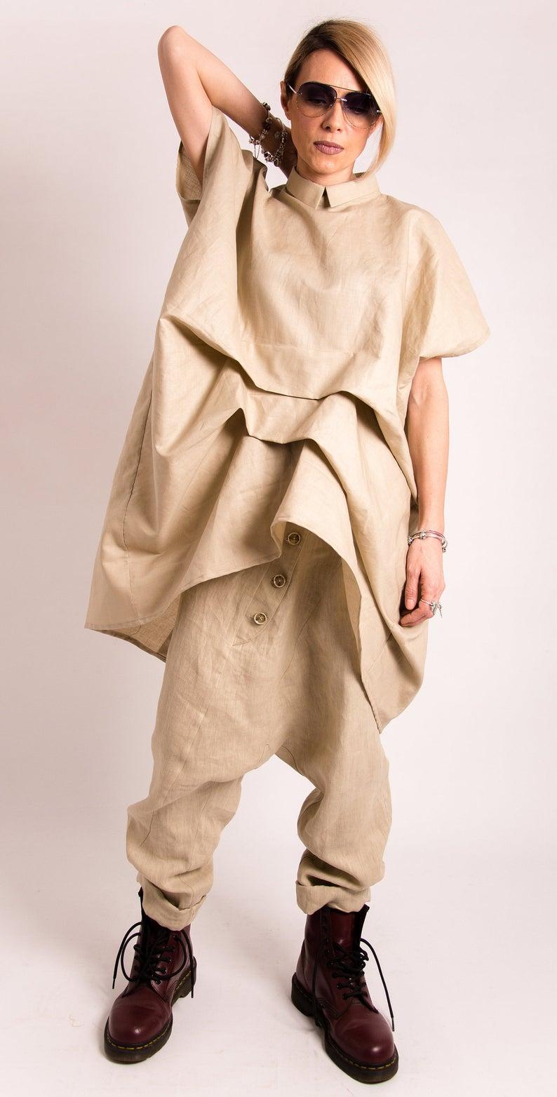 linen harem pants women