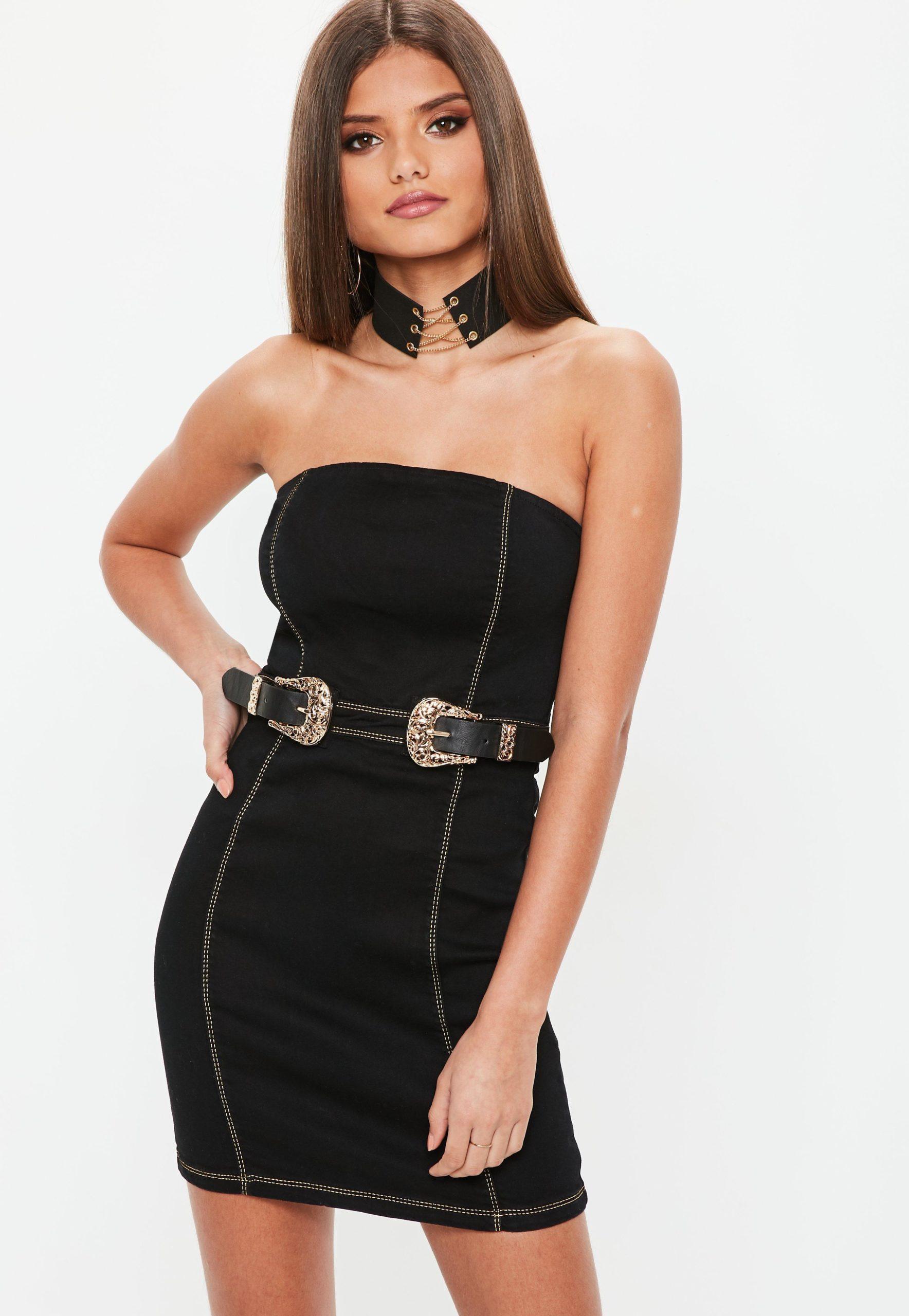 Strapless Denim Dresses