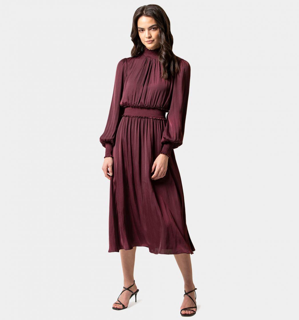 Jordie Petite Shirred Smock Dress