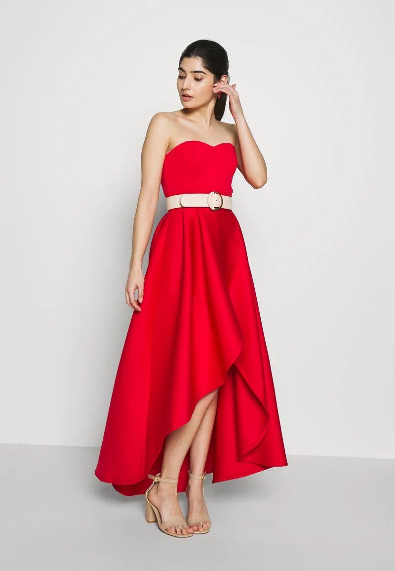 True Violet Petite TRUE VIOLET BARDOT WRAP HIGH LOW DRESS - Cocktail dress / Party dress