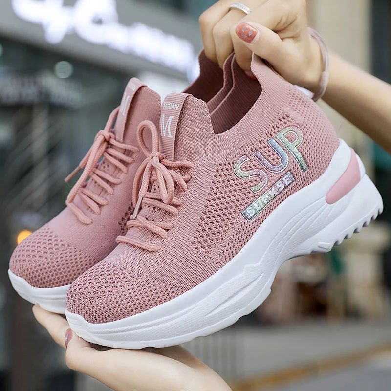 spring casual women chunky sneakers white ladies trainers Female buffalo shoes high heel fashion luxury sport sneakers