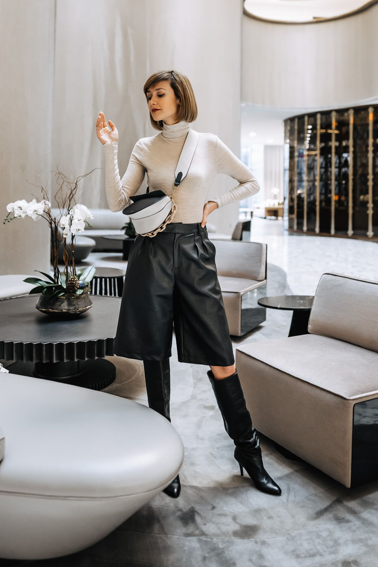 styling leather shorts for winter