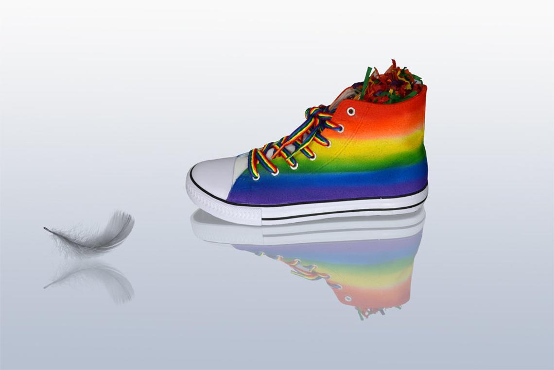 Rainbow Pride Sneakers