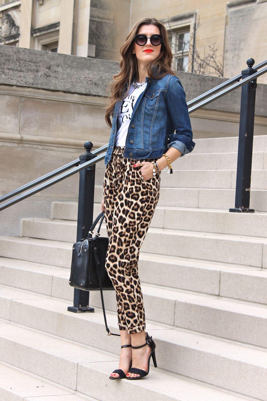 Women Animal Printed Jeans