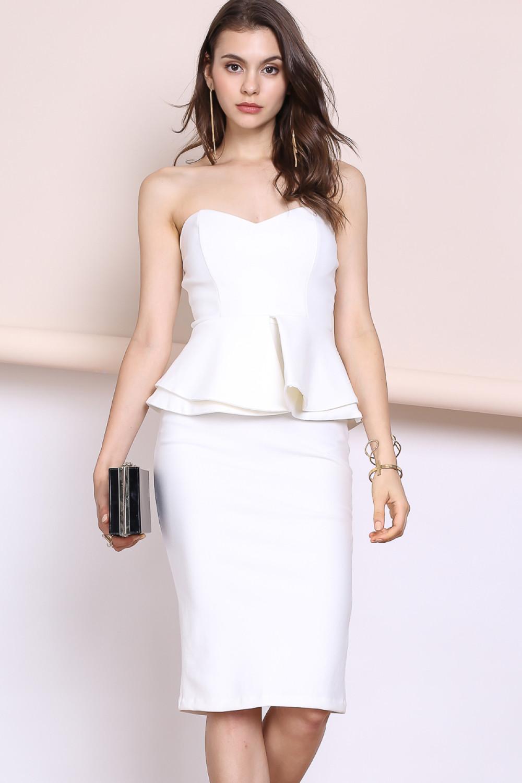 Tube Skirt with Peplum Top