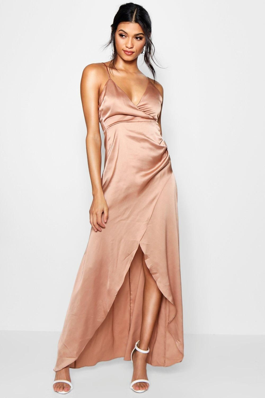 Silk Wrap Maxi Dresses