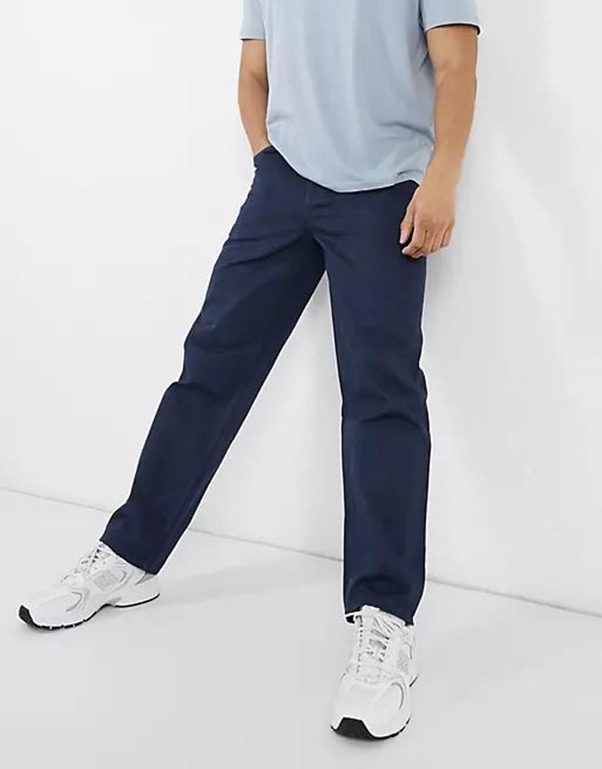 ASOS DESIGN baggy jeans in navy