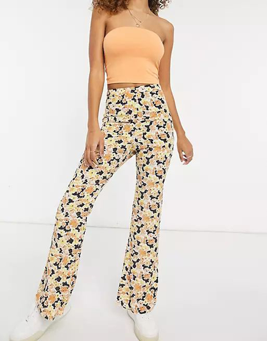 Fashion Union relaxed wide leg trousers in floral co-ord
