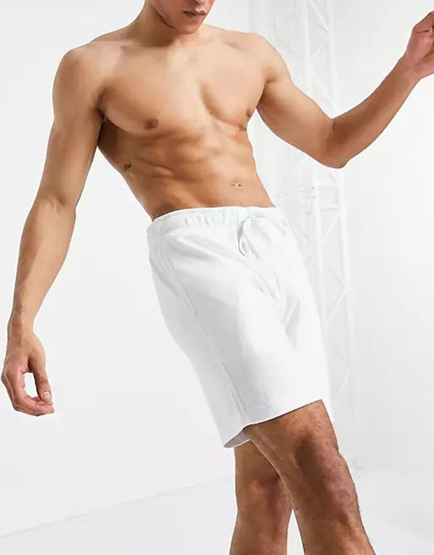 Hollister lounge shorts in white with small logo