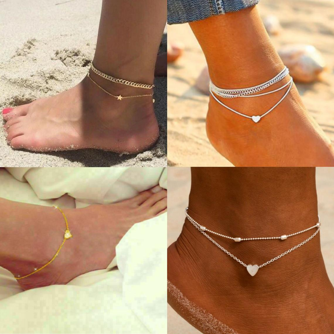 Multi layered Anklet | Boho Anklet | Dainty Anklet | Stacking Anklet | Ankle Bracelets | UK Anklets |Gifts for her |BFF Gift |Gift for girls