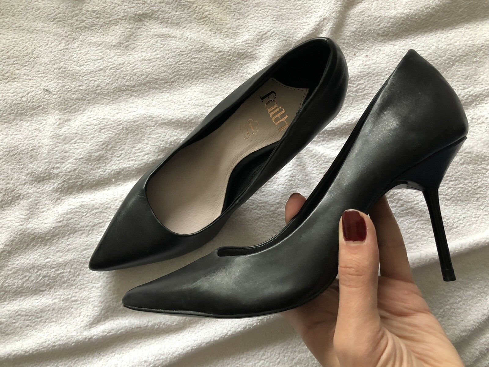 New leather stiletto Shoes Size 7. Brand New. Classic Style. #faith