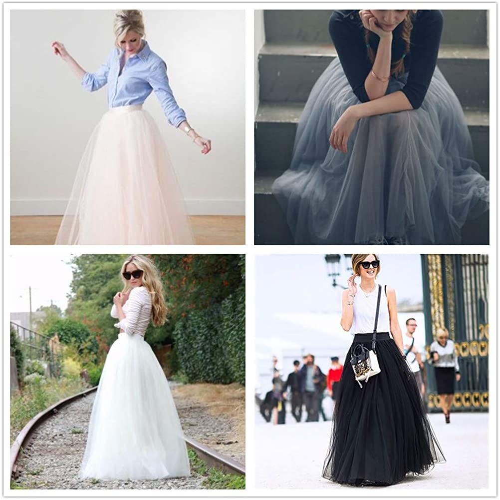 Special Bridal Women's Skirt Long Pleated Tulle A Line Waist for Wedding Party Skirt