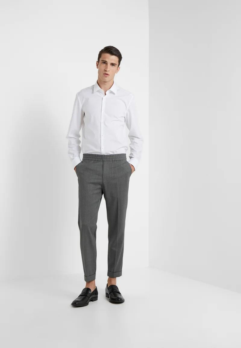 TERRY CROPPED PANTS - Trousers