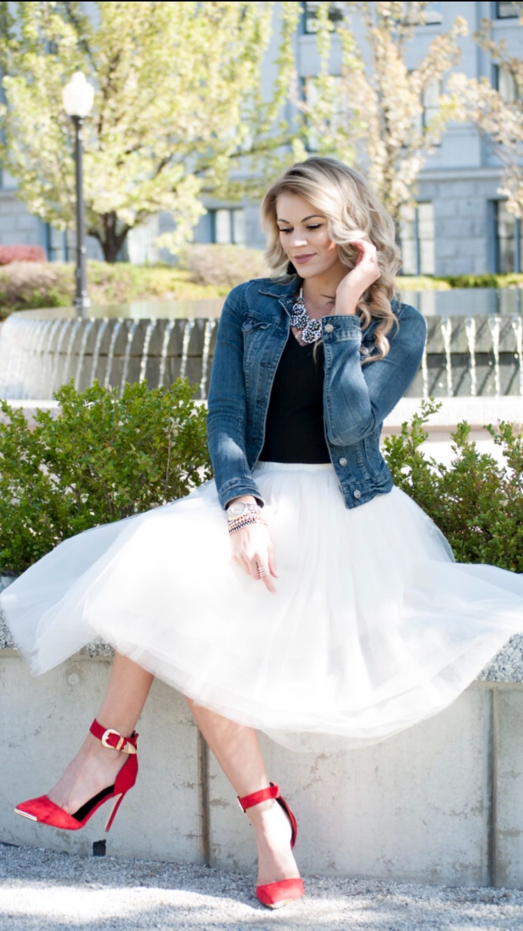 tulle skirt with Denim